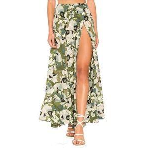 Free People Hot Tropics Maxi Skirt sz 4